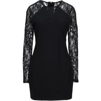 ゲス GUESS ミニワンピース&ドレス ブラック L レーヨン 68% / ナイロン 28% / ポリウレタン 4% ミニワンピース&ドレス