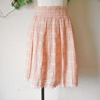 レストローズ LEST ROSE 春夏 向き 裾 レース の 可愛い スカート 日本製 2