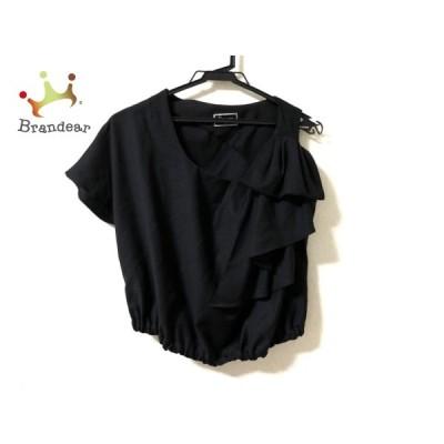 ダイアグラム 半袖シャツブラウス サイズ36 S レディース - 黒 変形デザイン 新着 20201025