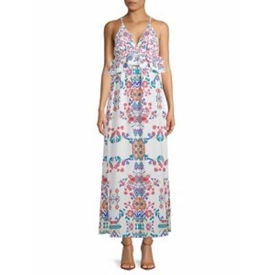ファースト サイト レディース ワンピース Ruffled Floral Maxi Dress