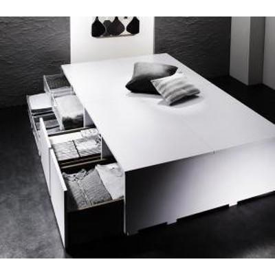 シングルベッド 一人暮らし フレームのみ チェストベッド ミドル ベッド下収納 引き出し付き 大容量 ヘッドレス ヘッドボードなし 布団