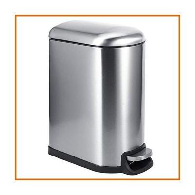 送料無料 Mute Pedal Rubbish Bin 10L Stainless Steel Pedal Rubbish Bin Step Trash Garbage Waste Can for Home Kitchen