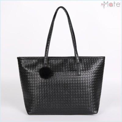 トートバッグ マザーズバッグ レディースバッグ バッグ 鞄 ハンドバッグ 大容量 A4 合成皮革 ショッピング 通勤 編込み