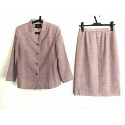 レリアン Leilian スカートスーツ サイズ11 M レディース 美品 ピンク 肩パッド【中古】20200521