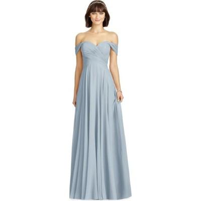 ディシーコレクション Dessy Collection レディース パーティードレス ワンピース・ドレス Off-The-Shoulder Chiffon Gown Mist Blue