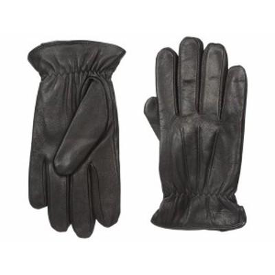 ドッカーズ メンズ 手袋 アクセサリー Leather Gloves With Smartphone Capacitive Touchscreen Compatibility Black