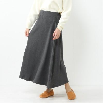 【nojean】裏毛ロングフレアスカート【M―5L】(ノージーン/NO JEAN)