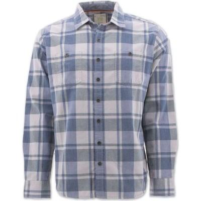 エコス Ecoths メンズ シャツ トップス Spencer Long Sleeve Shirt lunar rock