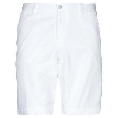 BOSS HUGO BOSS バミューダパンツ ホワイト 38 コットン 97% / ポリウレタン 3% バミューダパンツ
