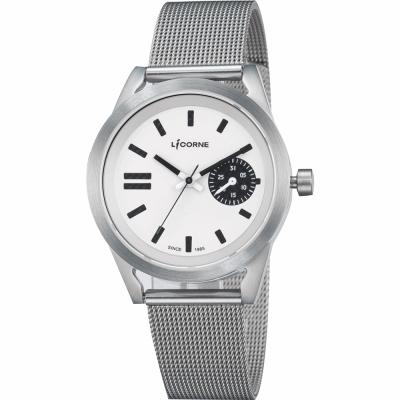 LICORNE 砌III系列亮麗人氣米蘭帶女錶 -白/33mm
