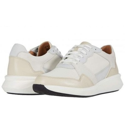 Clarks クラークス レディース 女性用 シューズ 靴 スニーカー 運動靴 Un Rio Run - White Textile/Suede Combi