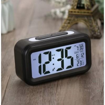 置き時計 デジタル アラーム シンプル 多機能 日付 温度