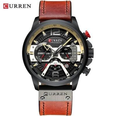 腕時計 メンズ レザー ブラック