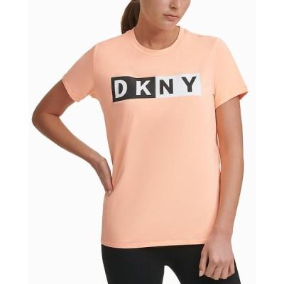 ダナ キャラン ニューヨーク カットソー トップス レディース Sport Logo T-Shirt, Created for Macy's Mimosa