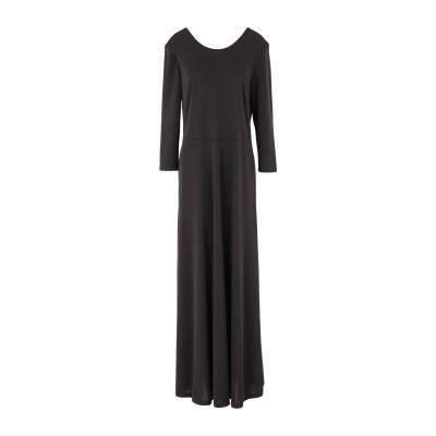 SEVENTY SERGIO TEGON ロングワンピース&ドレス ブラック 44 ポリエステル 94% / ポリウレタン 6% ロングワンピース&