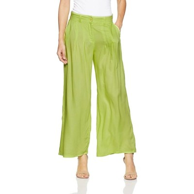 W for Woman Women's Relaxed Pants (17FE60381-11877_WL_Green)