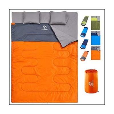 【新品】oaskys Camping Sleeping Bag - 3 Season Warm & Cool Weather - Summer, Spring, Fall, Lightweight, Waterproof for Adults & Kids - C
