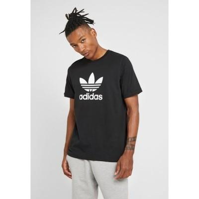 アディダスオリジナルス Tシャツ メンズ トップス TREFOIL UNISEX - Print T-shirt - black