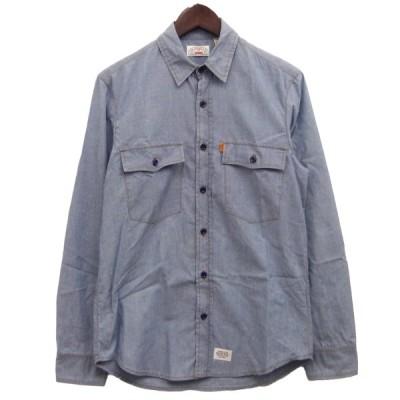 【10月12日値下】SUPREME×Levis 11AW「Chambray Shirt」シャンブレーシャツ インディゴ サイズ:S (渋谷神南店)