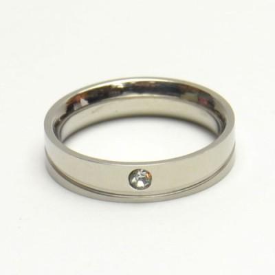 ラインストーン付き デザイン ステンレス リング レディース メンズ 指輪 ペア アクセサリー b-re216
