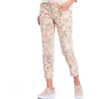 コード ブルー レディース カジュアルパンツ ボトムス Petite Size Floral Print Lover Crop Fray Hem Jeans