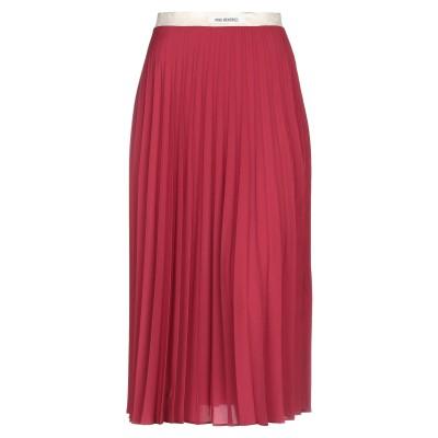 ピンク メモリーズ PINK MEMORIES 7分丈スカート ボルドー 42 ポリエステル 100% 7分丈スカート