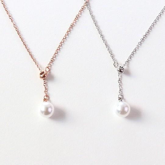 【KELRA】氣質珍珠防水防過敏鈦鋼項鏈