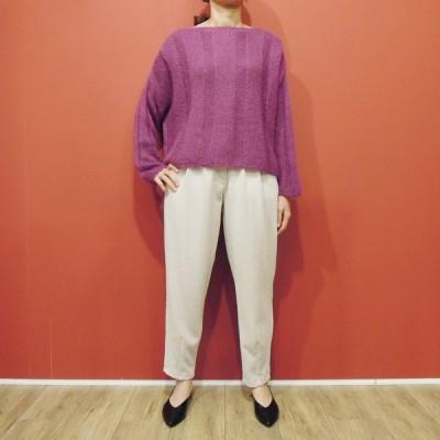 イタリア製 Susy Mix ざっくりモヘアニット レディース セーター パープル 紫 新品 未使用 9号 11号