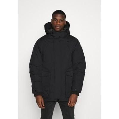 ジースター メンズ コート アウター EXPEDIC+ HOODED DOWN - Down coat - hide nylon wr - dk black hide nylon wr - dk black