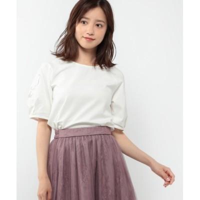 MISCH MASCH / 袖フラワー刺繍カットソー WOMEN トップス > Tシャツ/カットソー