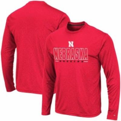 Colosseum コロセウム スポーツ用品  Colosseum Nebraska Cornhuskers Scarlet Luge Performance Long Sleeve T-Shirt