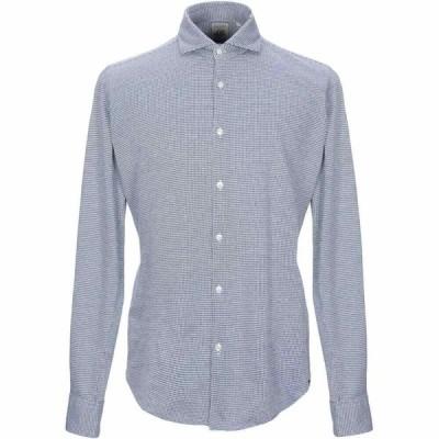 ザカス XACUS メンズ シャツ トップス patterned shirt Blue
