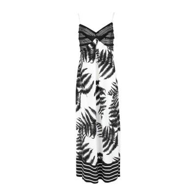 CLIPS ロングワンピース&ドレス ホワイト M レーヨン 100% / ポリエステル ロングワンピース&ドレス