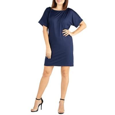 24セブンコンフォート レディース ワンピース トップス Loose Fitting T Shirt Dress
