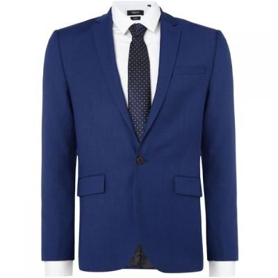 ケネス コール Kenneth Cole メンズ スーツ・ジャケット スリム アウター Hylan Slim Fit Pindot Suit Jacket Navy