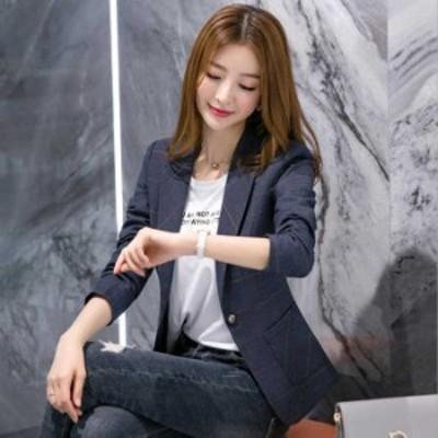 予約商品 大きいサイズ レディース チエック柄 ジャケット OL 通勤 テーラードジャケット オーバーサイズ 韓国ファッション ビッグサイズ