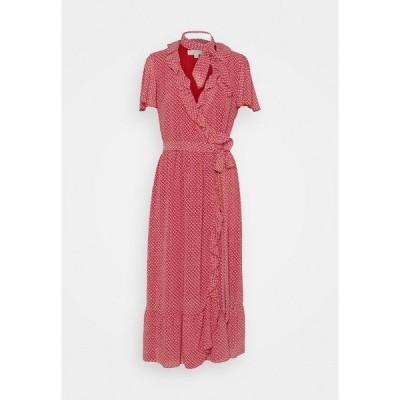 マイケルコース ワンピース レディース トップス PRINTED MIDI DRESS - Day dress - crimson