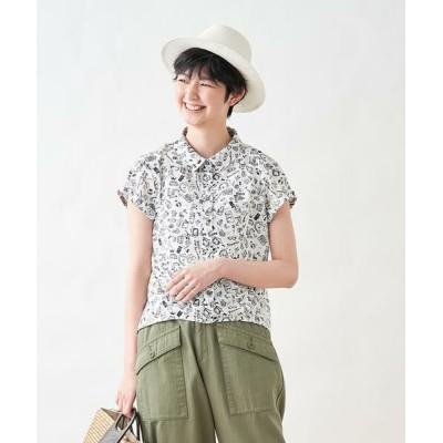 CARA O CRUZ/キャラ・オ・クルス ポッププリント半袖シャツ オフホワイト1 13