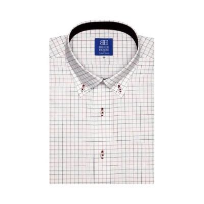 【トーキョーシャツ】 ワイシャツ 半袖 形態安定 ドゥエボットーニ ボタンダウン メンズ ピンク・レッド 37(半袖) TOKYO SHIRTS