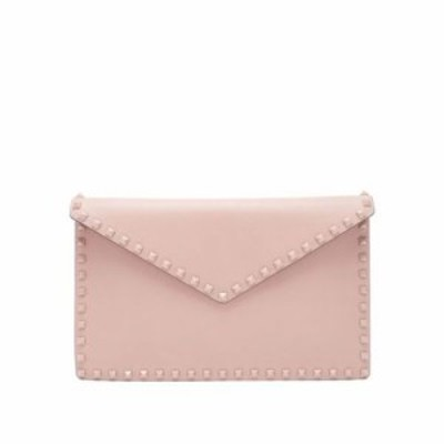 ヴァレンティノ ポーチ Rockstud leather pouch Dusty pink