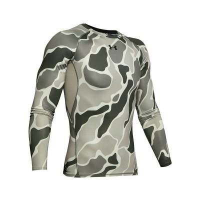 アンダーアーマー(UNDER ARMOUR) ヒートギアアーマー ノベルティ 長袖Tシャツ 1358585 GVN/BLK AT オンライン価格 (メンズ)