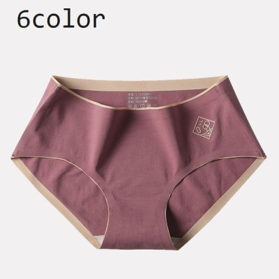 ショーツ レディース インナー パンツ 下着 女性用 婦人 シームレス シンプル ロゴ くすみカラー 響きにくい スタンダード フルバック ノーマル
