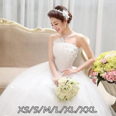 ウェディングドレス 結婚式 マキシドレス エレガントスタイル ハイウエスト ミドリフトップ 上品レディース ロング丈ワンピ-ス