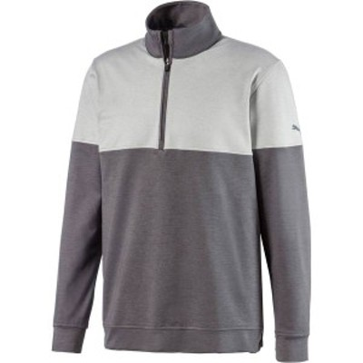 プーマ メンズ シャツ トップス PUMA Men's Warm Up Zip Golf Pullover Quiet Shade
