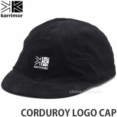 カリマー CORDUROY LOGO CAP カラー:BLACK サイズ:ONE SIZE