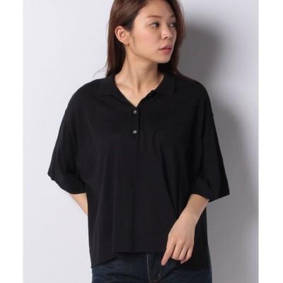 MARcourt 【mizuiro ind】wide polo knit(BLACK)【返品不可商品】