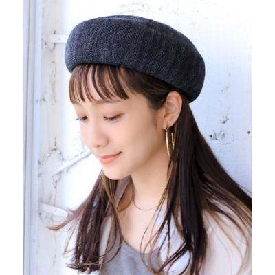 14+(ICHIYON PLUS) / ミックス麻サーモベレー帽 WOMEN 帽子 > ハンチング/ベレー帽