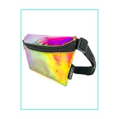 【新品】FYDELITY Fanny Pack Ultra-Slim Transparent Holographic: PLASMA ELECTRO PINK(並行輸入品)
