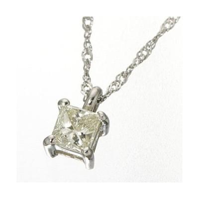 レビューで次回2000円オフ 直送 0.15ctダイヤモンドプリンセスカットペンダント/ネックレス プラチナ ファッション ネックレス・ペンダント 天然石 ダイヤモンド