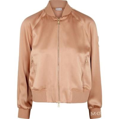 モンクレール Moncler レディース ブルゾン ミリタリージャケット アウター pink satin bomber jacket Pink